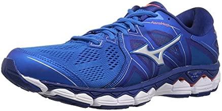 Mizuno Men's Wave Sky 2 Running Shoe, Directoire Blue/Cherry Tomato, 9 D US