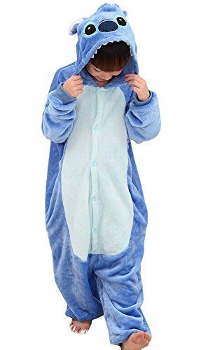 Tonwhar® Kinder Halloweenkostüm/Faschingskostüm, einteiliger Anzug in Tieroptik - 125(Suggest Height:135cm-140cm) - Stitch