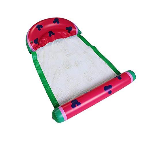 QUUY Wasser Hängematte, Wassermelone Aufblasbarer Luftmatratze Pool Lounge Pool Float Faltbarer Schwimmendes Bett Lounge-Sessel Drifter Pool Beach Float Für Erwachsene 79x138cm