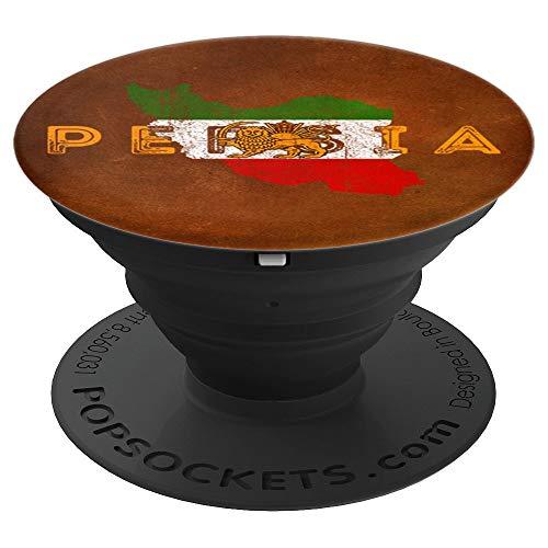 Persische Karte und Flaggen-Andenken - Bronzeart Persien - PopSockets Ausziehbarer Sockel und Griff für Smartphones und Tablets