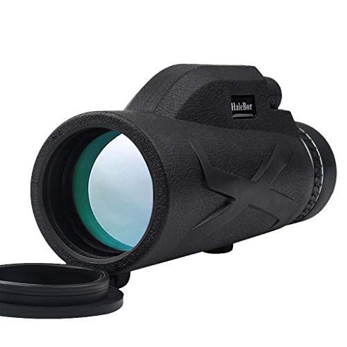 Prismáticos monocular de alta potencia, 80 x 100, HD, monocular Starscope, HD, visión nocturna, con soporte para teléfono móvil, para escalada, senderismo, caza, observación de pájaros