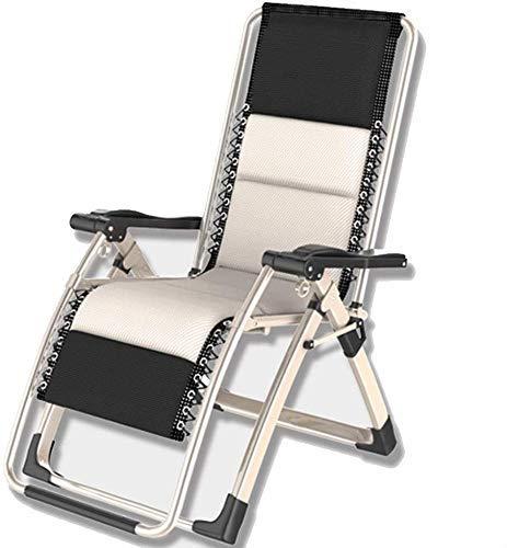 YLJYJ Silla Plegable Zero Gravity, reclinable Ajustable con Estabilidad Triangular y diseño silencioso con cordón, para Exterior, Playa, balcón, Campamento (BBQ)