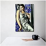 djnukd Tamara De Lempicka Cuadros Mujer Lienzo Pintura Carteles Impresiones Arte De La Pared Pintura Cuadros Decorativos Decoración Moderna para El Hogar 60X110Cmx1 Sin Marco