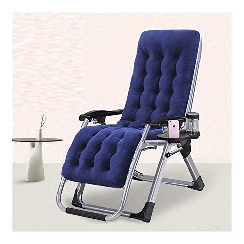 DSHUJC Tumbonas y sillones reclinables para jardín Muebles de Exterior Cama Plegable con cojín Tumbona Silla Ajustable Bandeja de Almacenamiento Gratuita para la Playa