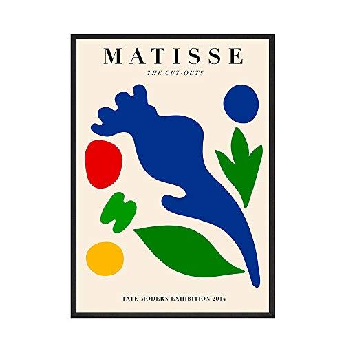 Carteles e impresiones vintage de Henri Matisse, murales abstractos, cuadros en lienzo vintage, cuadros decorativos en lienzo sin marco C 40x60cm