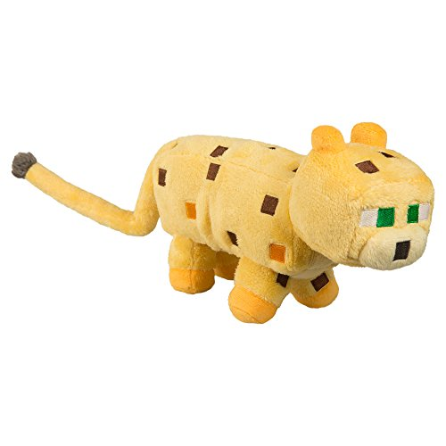 "JINX Minecraft Ocelot Plush Stuffed Toy, Yellow, 14"" Long"