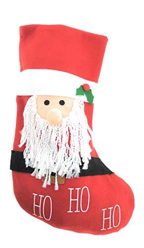 MC Trend Nikolausstrumpf Weihnachtsmann Weihnachtsstrumpf Nikolaus Weihnachten Strumpf zum Aufhängen und Befüllen (Nikolausstrumpf Weihnachtsmann)