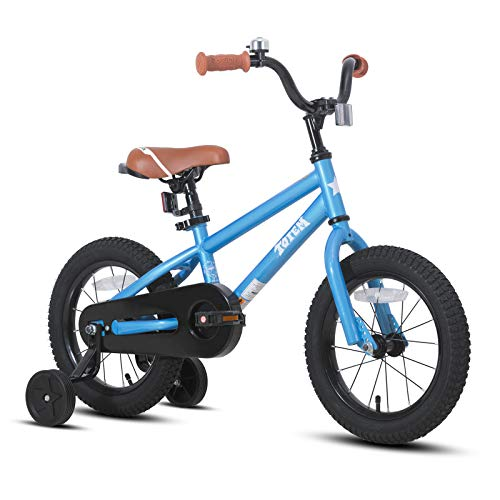 JOYSTAR 14 Inch Kids Bike for 3 4 5 Years Boys, Child Bicycle with Training Wheels & Coater Brake, Blue