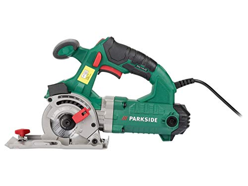 Parkside PTS 710 A1 Corded Circular Plunge Saw 710W 4 Meter Power Cord Spindle Lo0ck Comes with UK Plug, Accessories & Case comes with UK plug