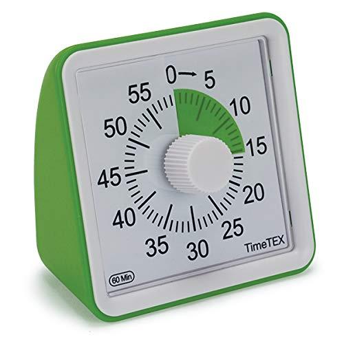 TimeTEX Zeitdauer-Uhr lautlos compact (grün)