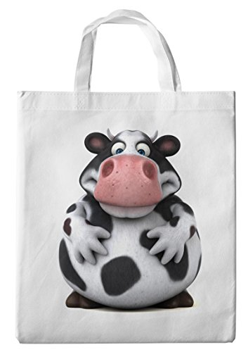 Merchandise for Fans Einkaufstasche- 38x42cm, 8 Liter - Motiv: 3D Comic Kuh - 01