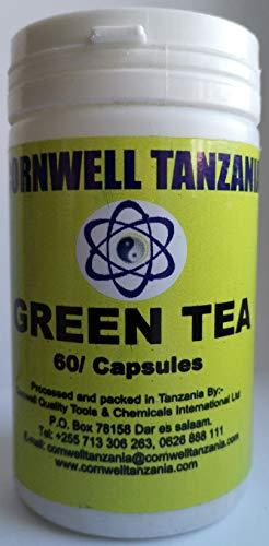 GREEN TEA, 60 Capsules, TANZANIA - GREEN-TEA - Grüntee-Extrakt – Hochdosiert, vegan – Laborgeprüft – 2 Monats-Vorrat – 60 Grüntee-Kapseln – Made in Tanzania