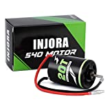 INJORA RC 540 Motor 20T 27T 35T 45T Brushed Motor for 1/10 RC Axial Tracks SCX10 AXI03007 90046 TRX4 RC Car Boat Parts(20T)