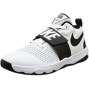 Customer reviews Nike Boys' Team Hustle D 8 (Gs) Basketball Shoes, White (White/Black 100), 3.5 UK