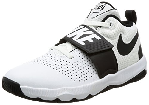 Nike Team Hustle D 8 (GS), Zapatillas para Niños, Blanco (White/Black 100), 38 EU
