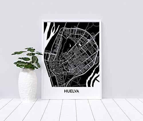 Mapa decorativo de Huelva
