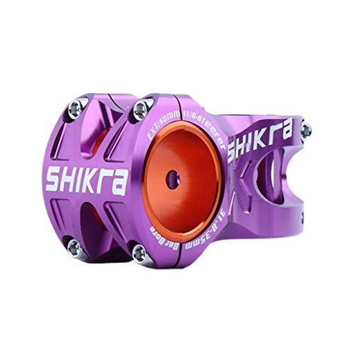 #N/A High Strength Mountain Bike Handlebar Stem Stem 31.8mm /35mm - Purple