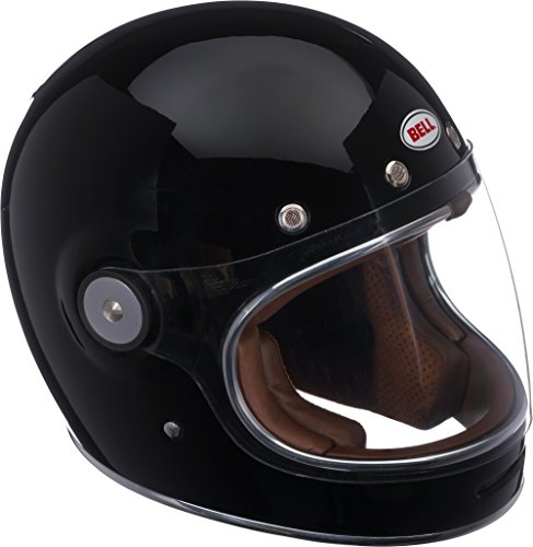 Bell Bullitt Full-Face Motorcycle Helmet (Solid Gloss Black, Large)