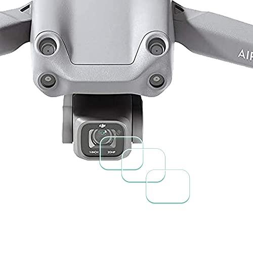 Objektiv Displayschutzfolie Schutzfolie für DJI Air 2S - Drone [3 Stück], ULBTER 0,3 mm 9H Härte Gehärtetes Glas Anti-Fingerabdruck Anti-Wasser