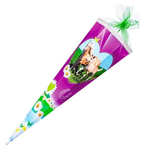 Nestler Schultüte Pferdewiese Zuckertüte Schulanfang Einschulung Schule Pony: Größe: 85 cm 6eckig