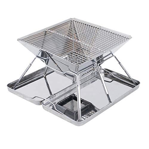 GL-outdoor Piccola griglia Portatile di Fresh Grills. Focolare per Barbecue Pieghevole Ideale per Backpacking e Campeggio