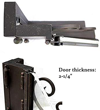 Wrought Iron Entry Doors with Rainstorm Glass Arched Top for Entrance Backdoor ID02 (36X36X96, Right Hand)