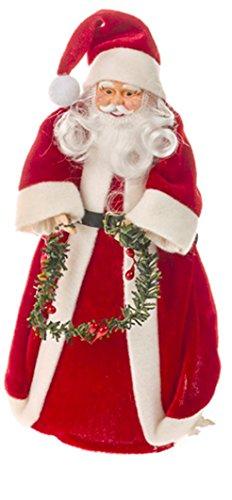 Puntale per decorare l'albero di Natale con Babbo Natale, 26cm.