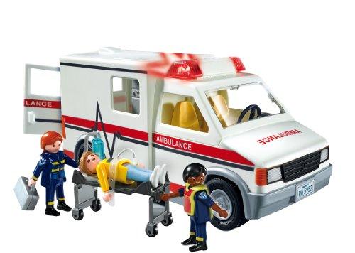 Ambulance Playmobil Secours - 5681 Ambulanciers et Patient Blessé - 3