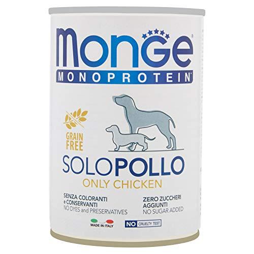 Monge Cane Solo Pollo Pate' Gr 400