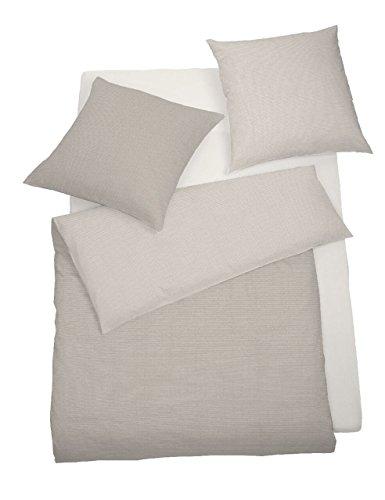 schlafgut Casual Cotton Biancheria da letto concer Bisquit, 100% cotone, Bisquit, 135 x 200 cm + 80 x 80 cm