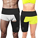 Auskang Hip Brace Thigh Compression Sleeve – Groin Compression Wrap & Hamstring Compression Sleeve for Hip Pain Relief. Support Hip Replacements, Sciatica, Quad Muscle Strains Fits Both Legs ( Left & Right ) 1pc