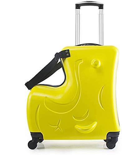 Viaje Maleta Infantil Correpasillos Maleta Elefante Coche,Yellow,Smooth