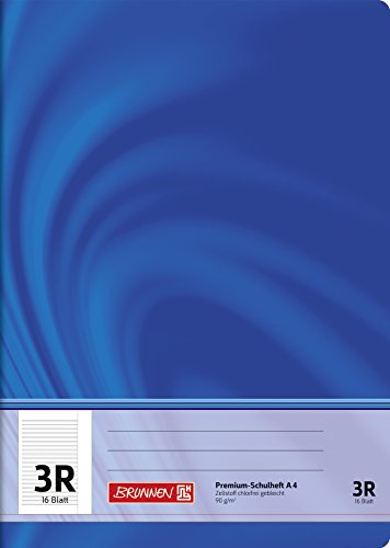 Brunnen 104470323 Schulheft A4 Vivendi (16 Blatt, liniert, mit Rand, Klasse 3)