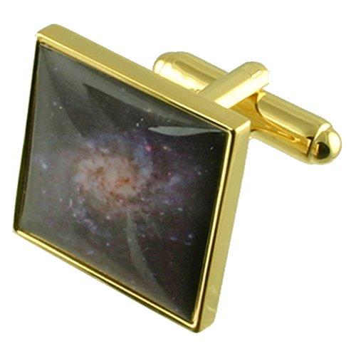 Select Gifts L'univers de l'or de l'espace Galaxy de manchette avec poche