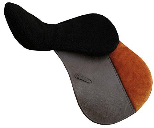 Reitsport Amesbichler AMKA Sattelsitzbezug aus Kunstfell schwarz Sattelwärmer Sattelfleecebezug Sattelauflage Bitte beachten Sie das der Sitzbezug auf dem Sattel angebracht Wird