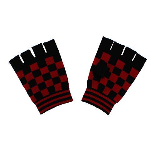 Zac's Alter Ego Checkered Short Fingerless Gloves