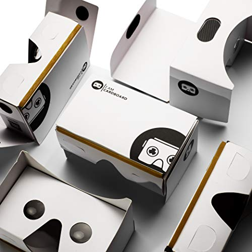 I Am Cardboard Five-Pack VR Box Set | The Best Google Cardboard Bulk Virtual Reality Viewer for iPhone and Android | Google Cardboard v2 Headset Inspired