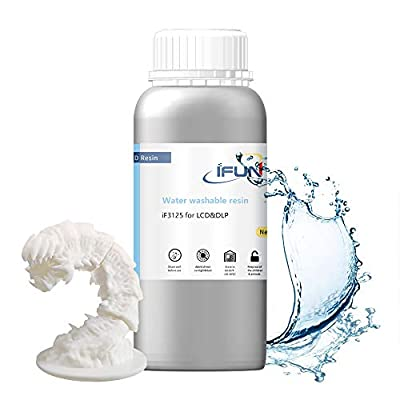 IFUN WATER WASHABLE Premium Resin (500g) for LCD/DLP 3D Printers White)
