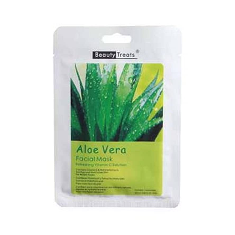 気になる低下ホップ(6 Pack) BEAUTY TREATS Facial Mask Refreshing Vitamin C Solution - Aloe Vera (並行輸入品)