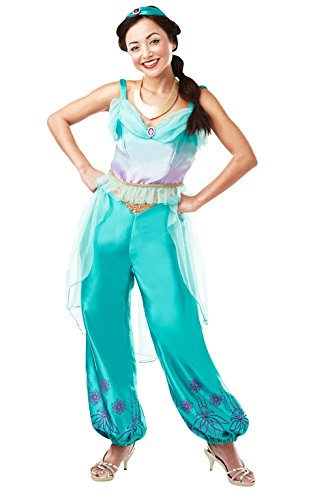 Rubies Disfraz oficial de princesa de Disney Jasmine Aladdin, disfraz de adulto