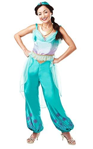 Rubie's 820519M Princess Offizielles Disney Prinzessin Jasmine Aladdin Kostüm für Erwachsene, Damen, Größe M 40-42, 5740, M