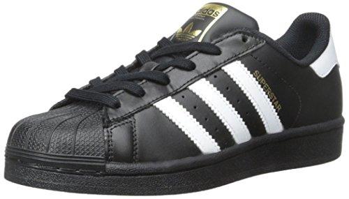 adidas Originals Unisex-Kinder Superstar Sneaker, Core Black White Schwarz, 38/38.5 EU