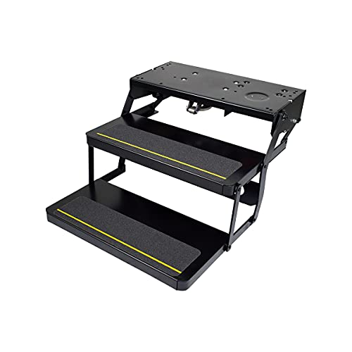 Kwikee Platinum Series Reinforced Double Tread Electric Step Assembly for 5th Wheel RVs, Travel Trailers and Motorhomes