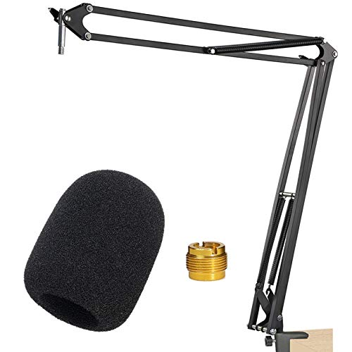 Rode NT1A Mic Stand with Popschutz - Mikrofon arm with Windschutz for Rode NT1A, NT2 A, NTK, K2 Rode Podcaster by YOUSHARES
