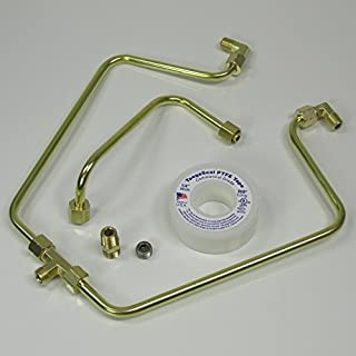 OLD-STF - Brass Rocker Box Split Oil Line for 1966-1984 Harley Shovelheads - MADE IN THE USA - Motorcycle Chopper Bobber Custom Cafe Racer