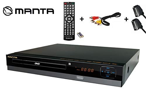 Manta DVD064S DVD-Player / CD Player DivX, Xvid, SCART, USB , Cinch inkl. SCART & Cinch-Kabel