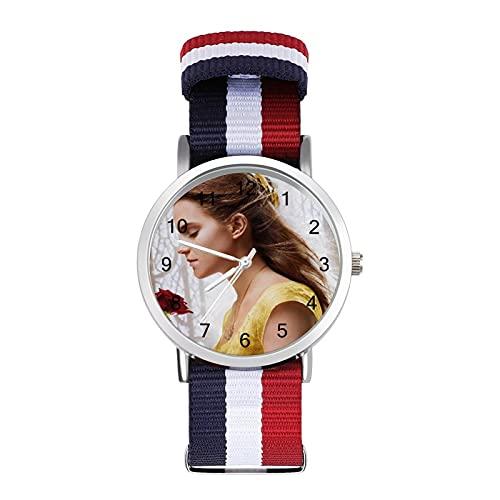Beauty Beast - Reloj de pulsera con espejo de cristal, estilo informal, adecuado para oficina, escuela, hombres y mujeres