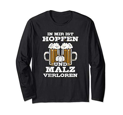 Bierbauch Spruch Beer Bier Hopfen Party Pils Bierliebhaber Langarmshirt