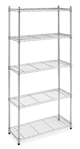 Halter ETI-001 5 Tier Storage Shelves for Kitchen/Garage/Office - NSF Approved for Commercial Use -...
