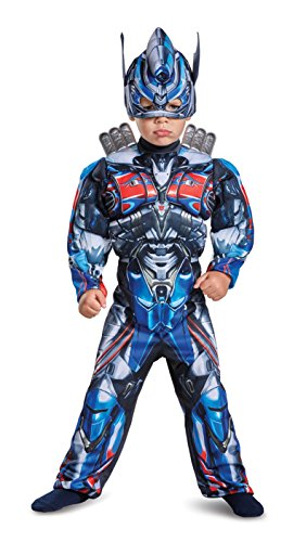 Disguise Optimus Prime Movie Toddler Muscle Costume, Blue, Small (2T)